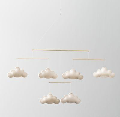 Love this sweet and simple cloud mobile - what could be  better to gaze up at? #rhbabyandchild #fallinlove