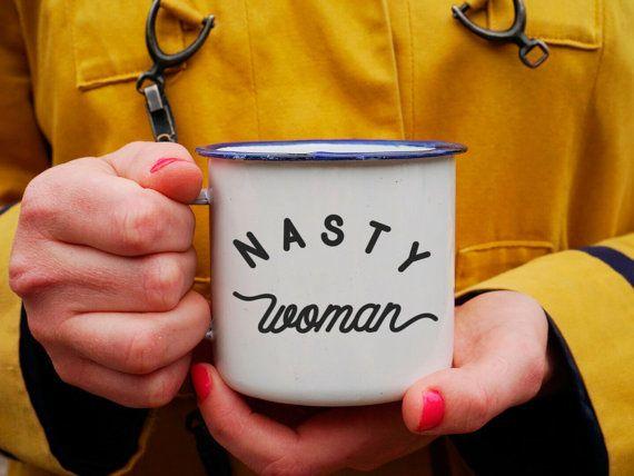 Mujer desagradable taza - #nastywoman - HRC 2106 taza - taza de esmalte mujer cachonda