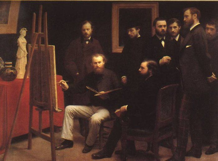 An Atelier in the Batignolles, 1870 Henri Fantin-Latour