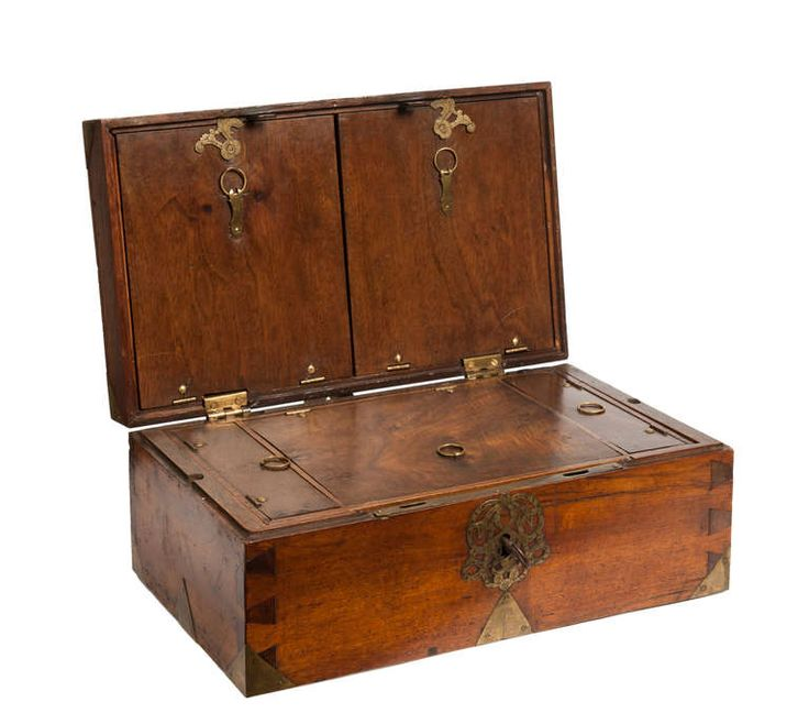 Captain's Writing Box 18th Century | From a unique collection of antique and modern boxes at http://www.1stdibs.com/furniture/more-furniture-collectibles/boxes/ More