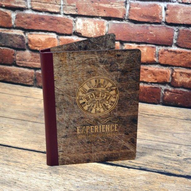 Digitally Printed Wood Veneer Menu Covers - Smart Hospitality Supplies