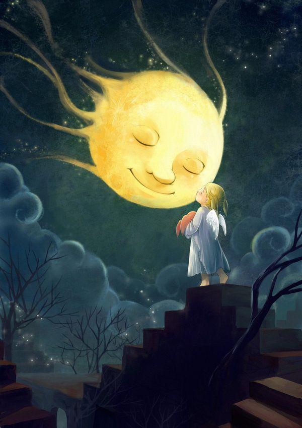 Good Night Mrs.Moon. Melani Sie. darkmello.deviantart.com on @DeviantArt