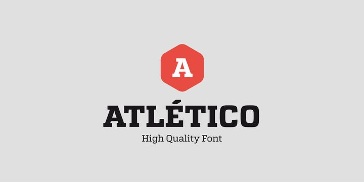 Atletico (NEW font) - http://fontsdiscounts.com/atletico-new-font/