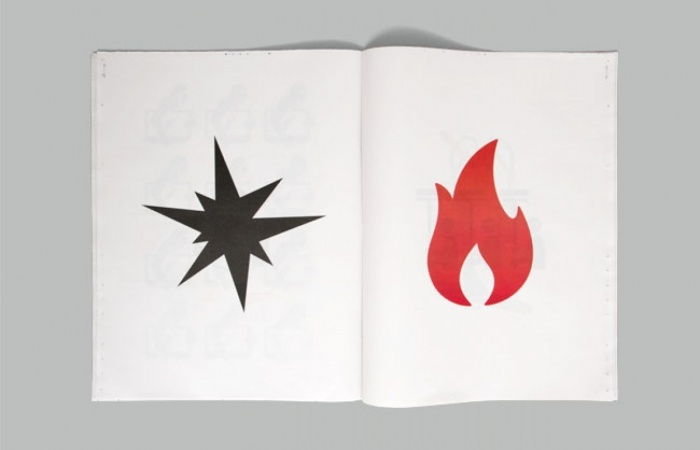 England's Burning: The Story of the English riots told in pictograms   Beginning with the tragic shooting of Mark Duggan in north London and the ensuing peaceful protests, followed by the first outbursts of civil disorder, the looting of shops, the police response, the clean up, the hunting of suspects, and finally the draconian sentencing, the entire story is told without words.   Design, concept and pictograms: Stephen McCarthy   Image 8 of 11