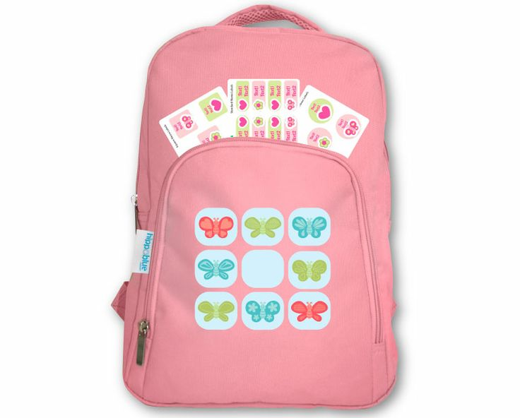 Personalised Kids Pink Backpack + FREE Labels Pack - Personalised Kids Backpacks - Personalised Bags