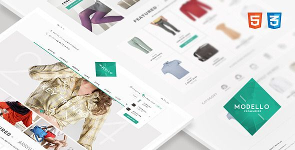Modello - Responsive eCommerce Template #webdesign #website #design #responsive #besttemplates #template #SiteTemplates #Retail #Shopping