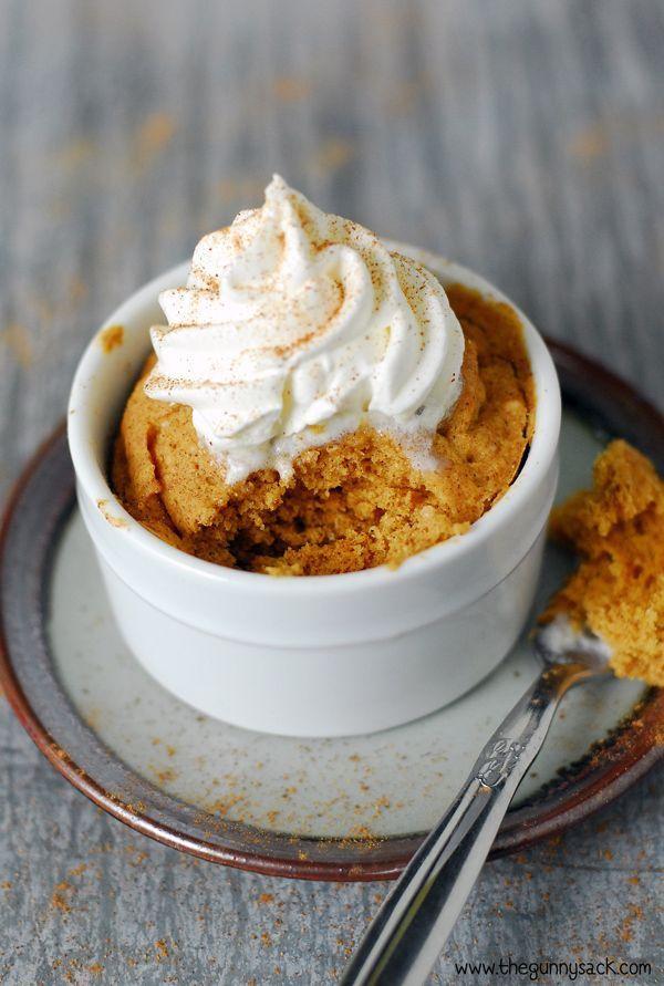 Microwave Pumpkin Mug Cake