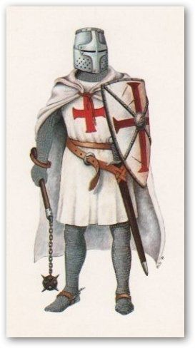 Knights Templar:  A #Knight #Templar with mantle.