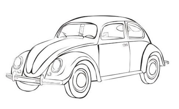 Volkswagen Beetle Car Coloring Page Printable Cars Coloring