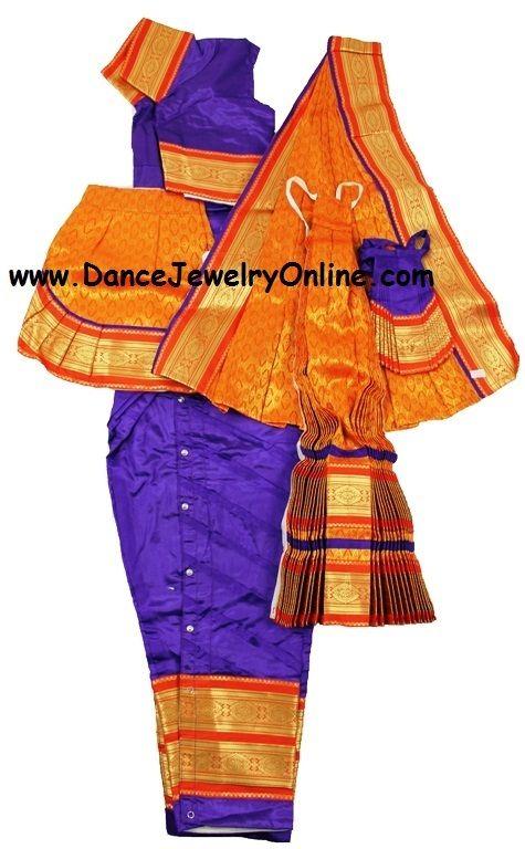 DanceJewelryOnline.com - Bharatanatyam or Kuchipudi costume stitched from Art silk material, Rs 4,828.18 (http://www.dancejewelryonline.com/bharatanatyam-costume-pant-style-custom-stitched-from-art-silk-material/)