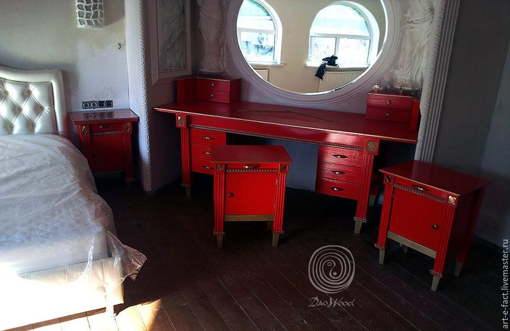 """Купить Мебель на заказ. Комплект арт мебели """"ФРАНТ"""" - ярко-красный, мебель из массива"""