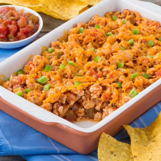 Turkey Chili Nacho Dip #InspireTheSeason