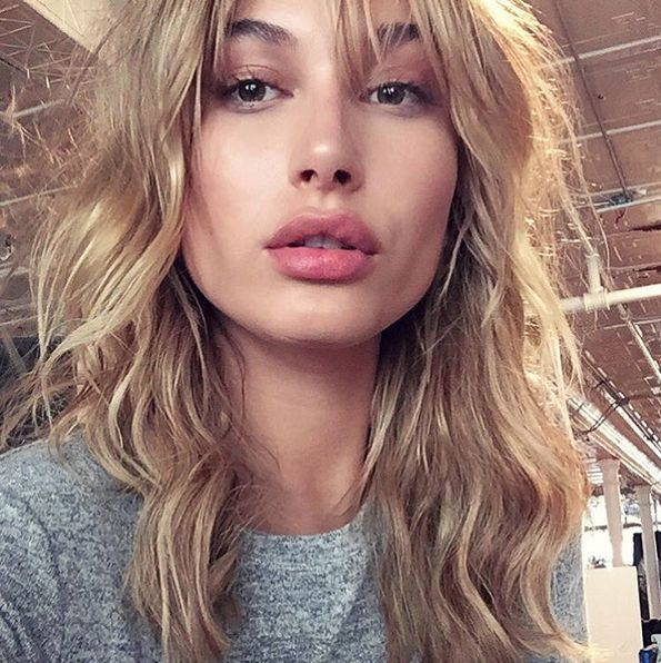 Hailey Baldwin Shows Us Exactly How to Rock Bangs ThisFall   StyleCaster