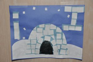 Ii is for Igloo craft.
