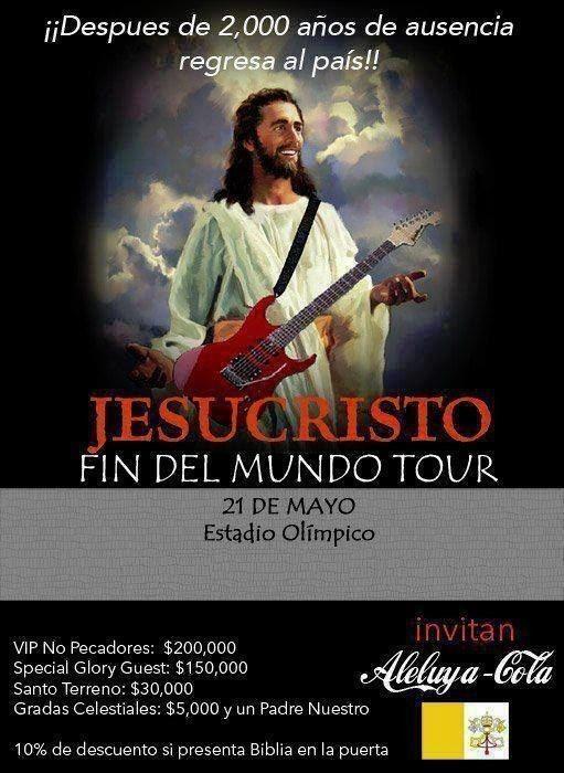 El Fin del Mundo Tour: | 31 Memes de Jesús que fueron creados en el mismísimo infierno
