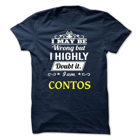 CONTOS - may be - #t shirt website.  CONTOS - may be, shop tshirts,hooded sweatshirts womens. GET YOURS => https://www.sunfrog.com/Valentines/-CONTOS--may-be.html?id=67911