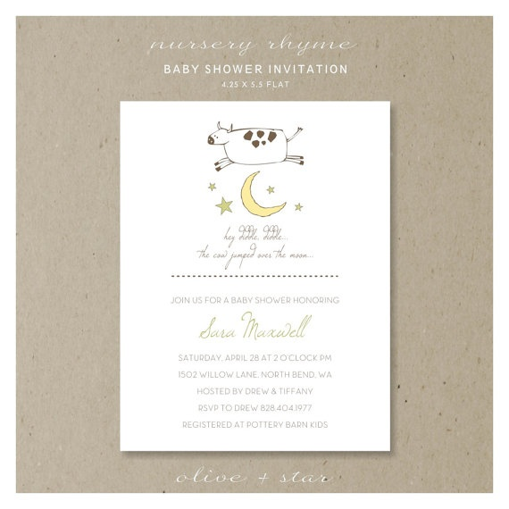 38 best mother goose bday images on pinterest mother goose hey diddle diddle baby shower invitation set kids birthday nursery rhyme story book cow moon first birthday note card filmwisefo Images