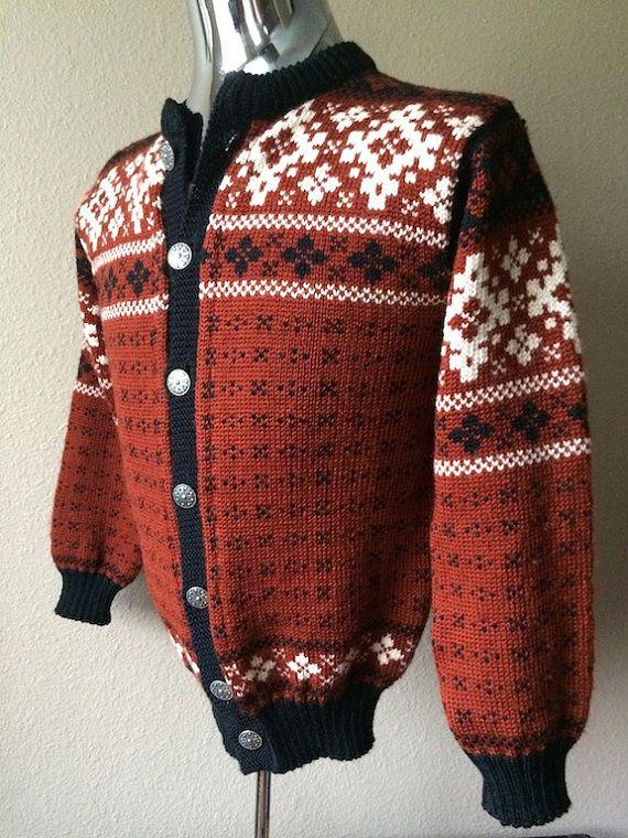 Vintage Apparel Men's 60's Cardigan Sweater by Freshandswanky