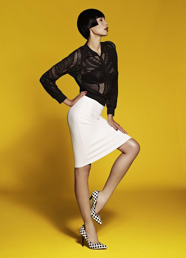 Zip Jacket & Stretch Pencil Skirt
