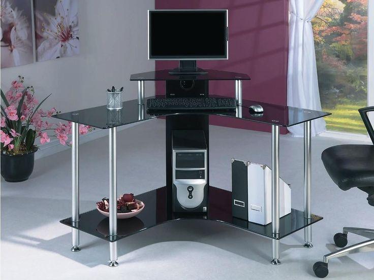 99 Small Glass Corner Desk Home Office Furniture Set Check More At
