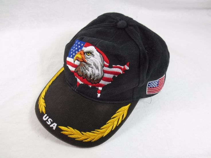Military-Style Officer's Cap ~Like Admiral ~General Cap w Flag Eagle Gold Leaves #Unbranded #Baseballtypecap