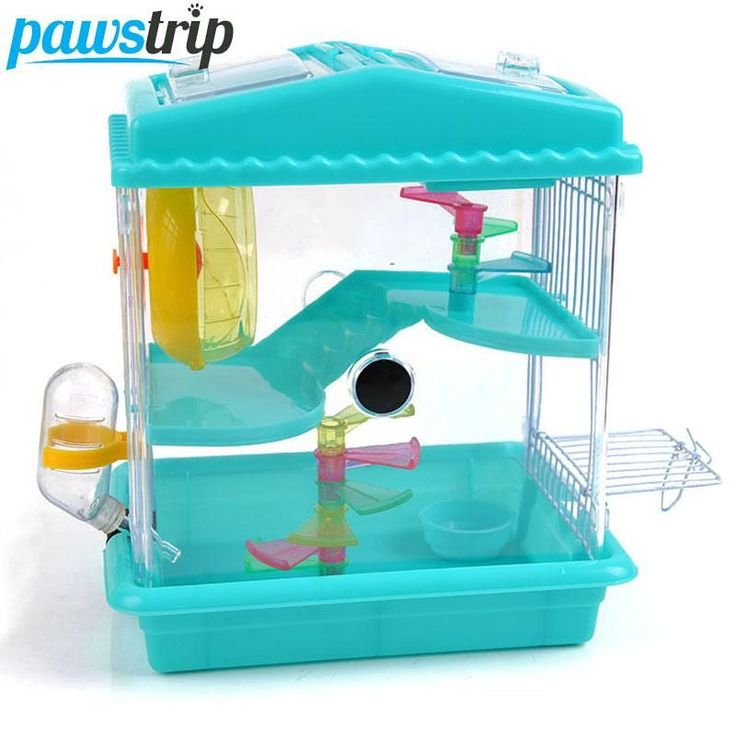 2-Level Hamster/Gerbil/Mouse Play House with Slide Bowl/Bottle http://www.catsonyards.com/product-category/cages/