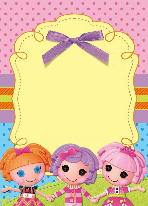 Lalaloopsy Party Invitation, FREE template. Just fill in with your info. :) DIY  made by me, email me at hellobinkley@gmail.com if you're interested in me making you a custom invitation!