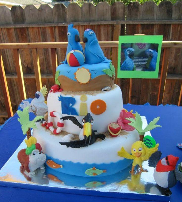 Rio theme birthday cake