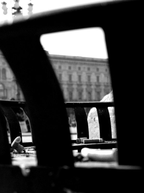 Duomo by Federico Poletti #smoke #cigarette #chase #milan #duomo #blackandwhite #photo
