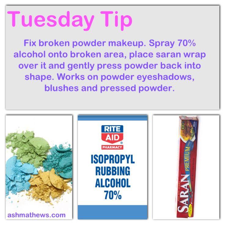 how to fix broken highlighter powder