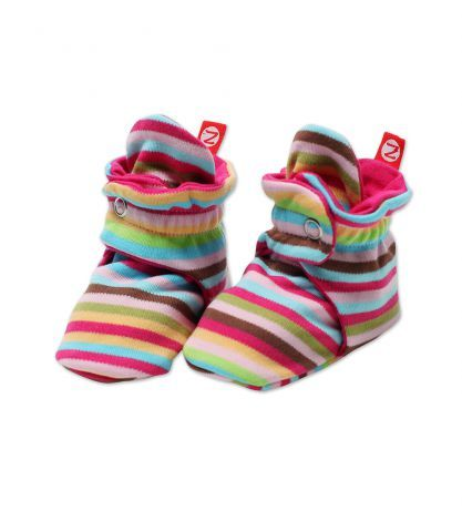 Snap booties so her feet can stay warm and Mommy doesn t