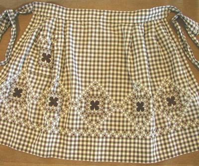 Chicken-scratch embroidery apron...have several that my grandmother made.