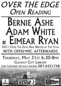Come See Bernie Ashe At The May Over The Edge Open Reading Thursday
