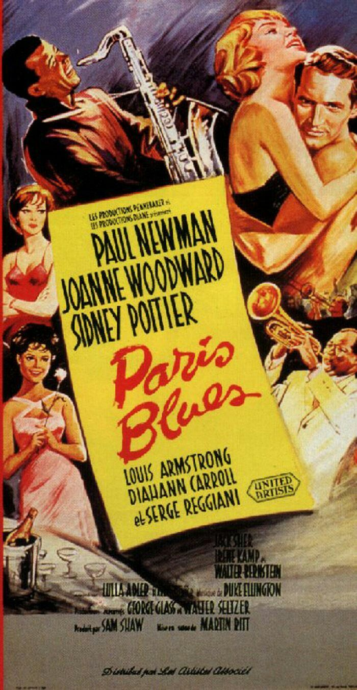 Paris Blues (1961) is an American feature film made on location in Paris, starring Sidney Poitier as expatriate jazz saxophonist Eddie Cook, and Paul Newman as trombone-playing Ram Bowen.The two men romance two vacationing American tourists, Connie Lampson (Diahann Carroll) and Lillian Corning (Joanne Woodward) respectively. The film also deals with American racism of the time contrasted with Paris's kinder treatment of African Americans. The film was based on the 1957 novel of the same name…