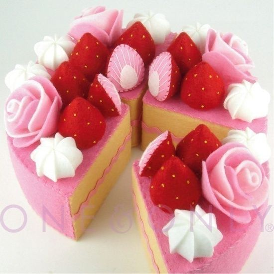 onenonly88 - Felt Cake, Felt Food, Pretend Food, Play #hand made #diy fashion #diy gifts| http://creativehandmaderichard.blogspot.com