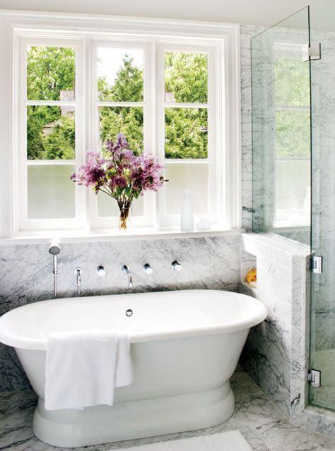 48 wonderful marble bathroom designs 48 luxurious marble bathroom designs with white bathtub flower decor window glass shower towel carpet and ceramic