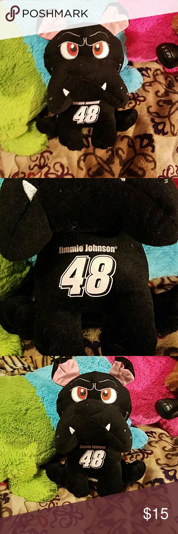 Official NASCAR Jimmy Johnson bulldog Great condition. Nascar tag. Nascar Accessories