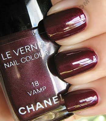CHANEL nail colour in Vamp ~the ultimate Fall color~ love love love it~