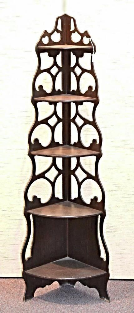 5 Shelf Victorian Corner Etagere What Not Shelf Stand