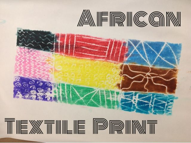 Mrs. Knights Smartest Artists: African textile print #culture #printmaking