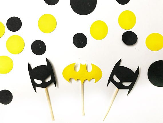 batman cupcake toppers, superhero cupcake toppers, batman party supplies, batman birthday supplies, batman decorations, lego batman toppers