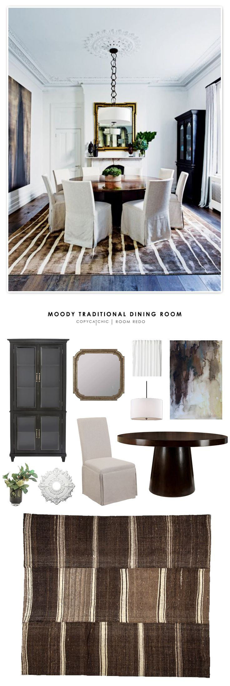 Copy Cat Chic Room Redo | Moody Traditional Dining Room | | Copy Cat Chic | chic for cheap | Bloglovin'