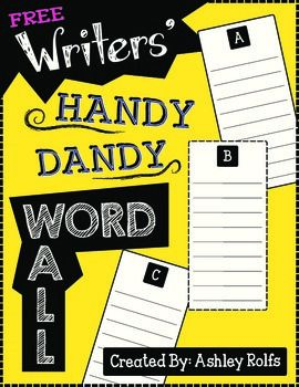 """Add this personal word wall to your students' writing binders or folders!  Provides perfect opportunities for students to add words they personally struggle with or may need to reference often!  The last page includes a special spot for them to add any """"delightfully descriptive words"""" they've learned from mentor texts or words they just LOVE and would like to keep for later."""