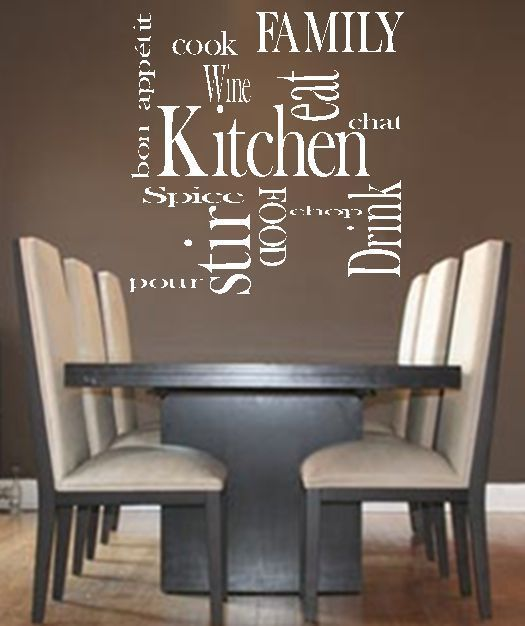 Kitchen Words Family Love Vinyl Wall Art Quote Decal Sticker Transfer Living In Home Furniture