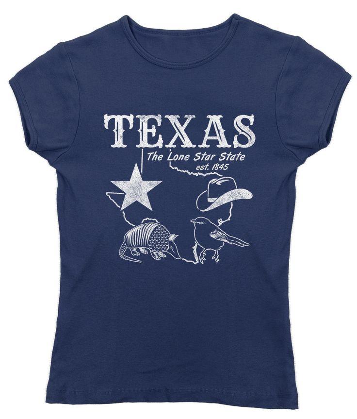 Women's Vintage Texas T-Shirt - Juniors Fit Dallas Houston San Antonio Austin