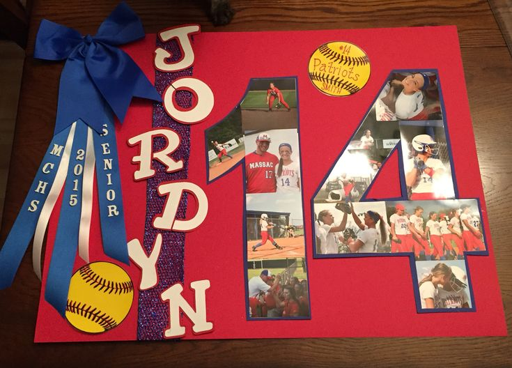 Senior Night softball poster