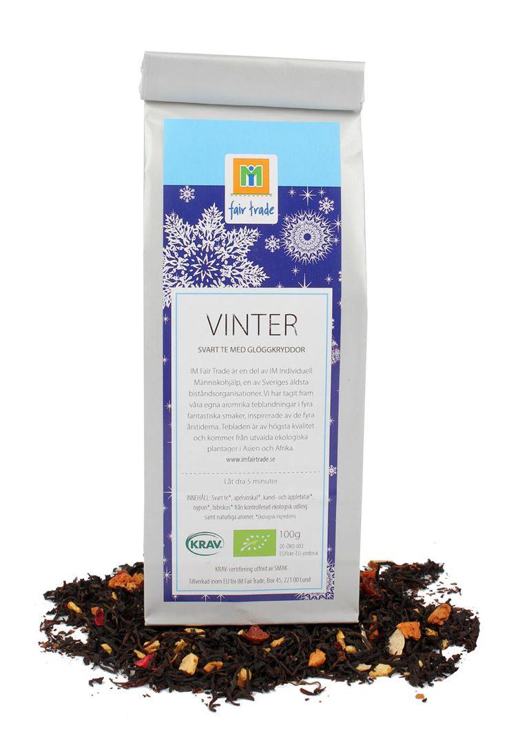 Te, Vinter. Svart te med glöggkryddor.