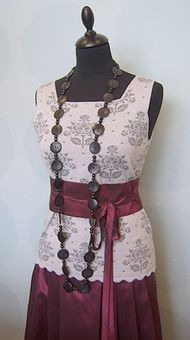 Silk skirts and belts available in a dozen colors.