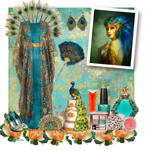 """""""Peacock"""" by fiordiluna on Polyvore"""