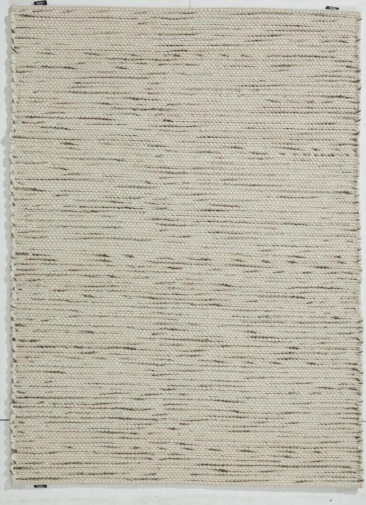 Cream, brown & grey wool rug, Grampian - Ebony by Bayliss.
